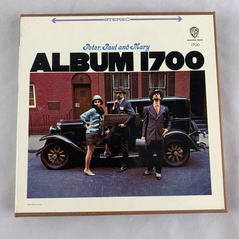 Peter Paul and Mary Album 1700 on 4 Track Stereo Reel to Reel Tape - Jet Plane
