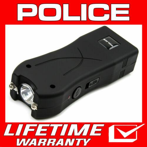 POLICE Stun Gun Black Mini 398 550 BV Rechargeable LED Flashlight