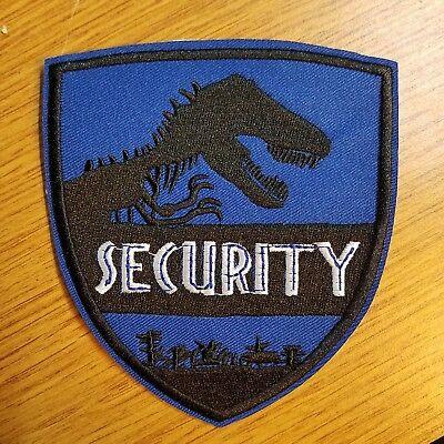 Welt Jurassic park Sicherheit blau Uniform/Kostüm Aufnäher 10.2cm Breit ()