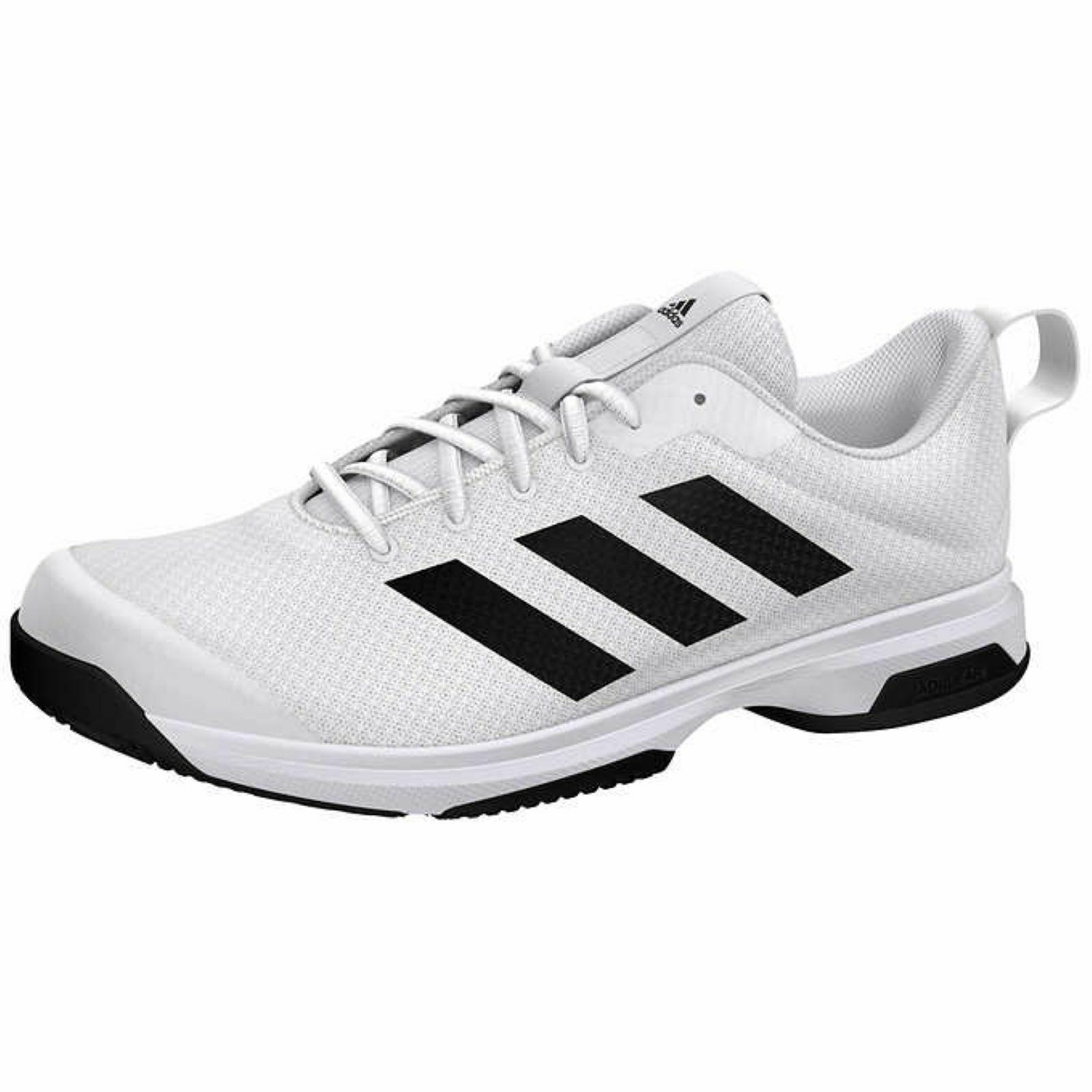 Adidas Mens Running Shoes White Black Men's Athletic Sneaker New