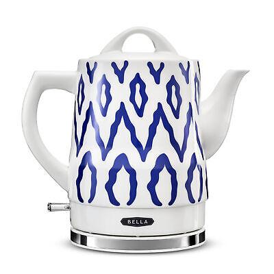 BELLA 14744 Electric Tea Kettle 1.5 LITER Blue Aztec Kitchen