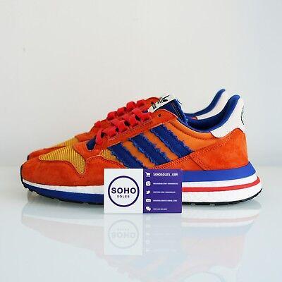 Dragon Ball Z x Adidas ZX 500 RM Son Goku - Size 4.5 5 8 - SHIPS NOW - Goku Shoes