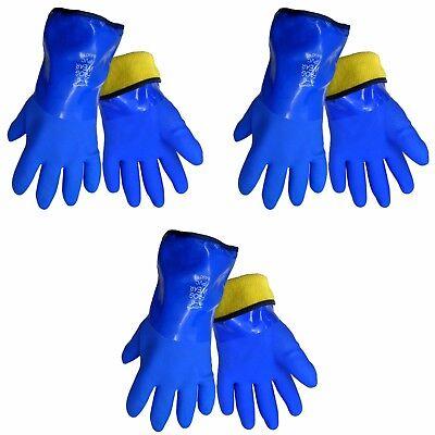 Global Glove 8490 Frogwear Insulated Waterproof Flexible Pvc Gloves 3 Pair