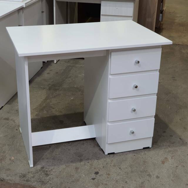 White Student 900mm Wide Desk 4 Drawers Home Office Study