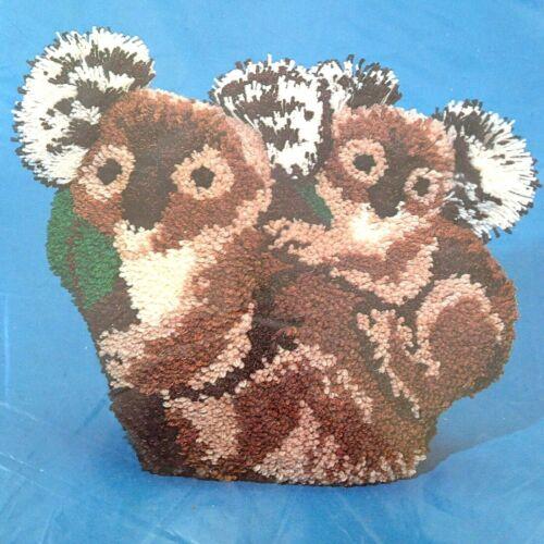 Vintage Koala Latch Hook Furry Friends Rug Kit RG104 17x22 Millcraft 1977