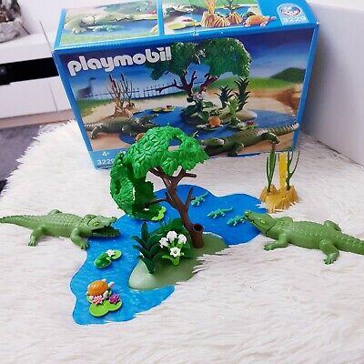 Playmobil Set 3229 Alligator Swamp Crocodile Habitat / Animal Zoo Add On