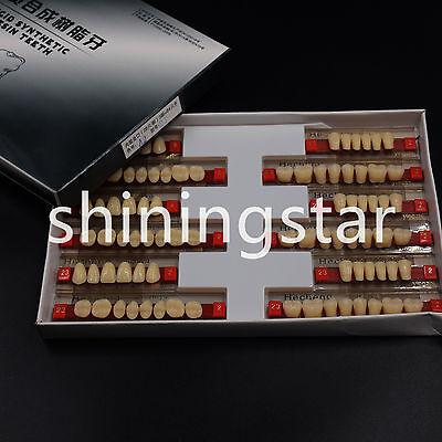 3 Set Dental Acrylic Resin Denture Teeth Vita Color A2 Upper Lower Shade 84 Pcs