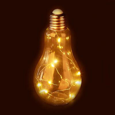 Deko Glühbirne LED Glühlampe mit Lichterkette batteriebetrieben Tischleuchte