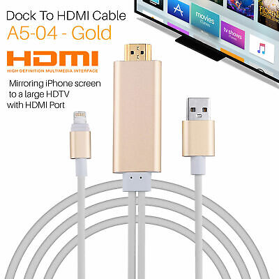Lightning to HDMI Cable TV Adapter for iPhone 11 Pro X XS 5 6 7 8 iPad mini
