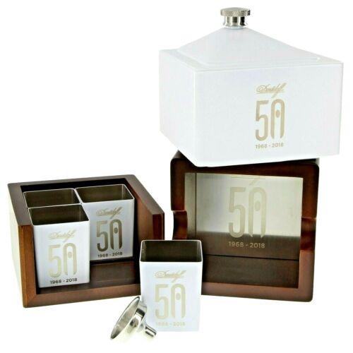 Davidoff 50th Anniversary Flask, 4 Shot Glasses  and Ashtray