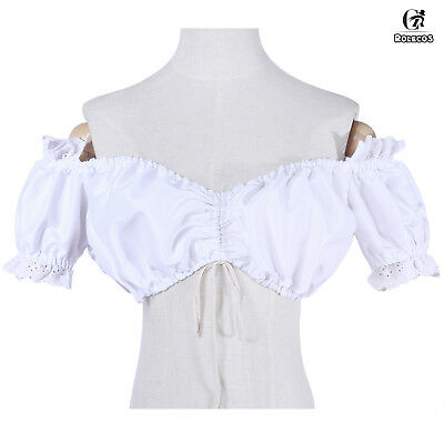 Renaissance Chemise Off Shoulder Bodice Dress-up Costume Pirate Blouse Shirt Top