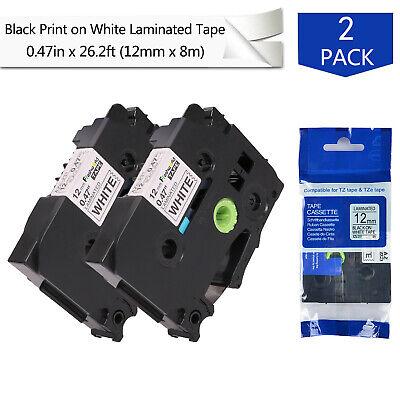 Compatible Brother P-touch Tze231 Label Maker Tape 12mm Tze-231 Tz White Pt-d210