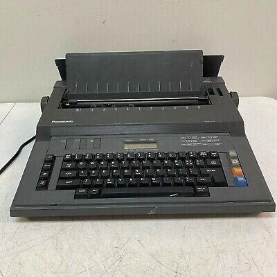 Panasonic T30 Electronic Typewriter Word Processor W Lcd Display Black Tested