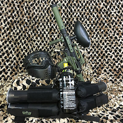 NEW Tippmann Cronus Tactical EPIC Paintball Marker Gun Package Kit - Olive/Black