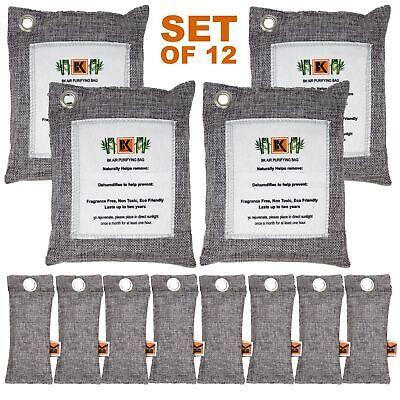 Naturally Activated Bamboo Charcoal Air Purifying Bag - SET