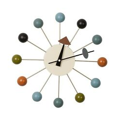 Nelson Style Ball Clock 12 Diameter Multi Color Multi Color Mid Century Modern