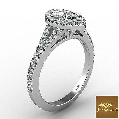 Beautiful Marquise Diamond Halo Pave Set Engagement Ring GIA F VVS2 Platinum 1Ct 2