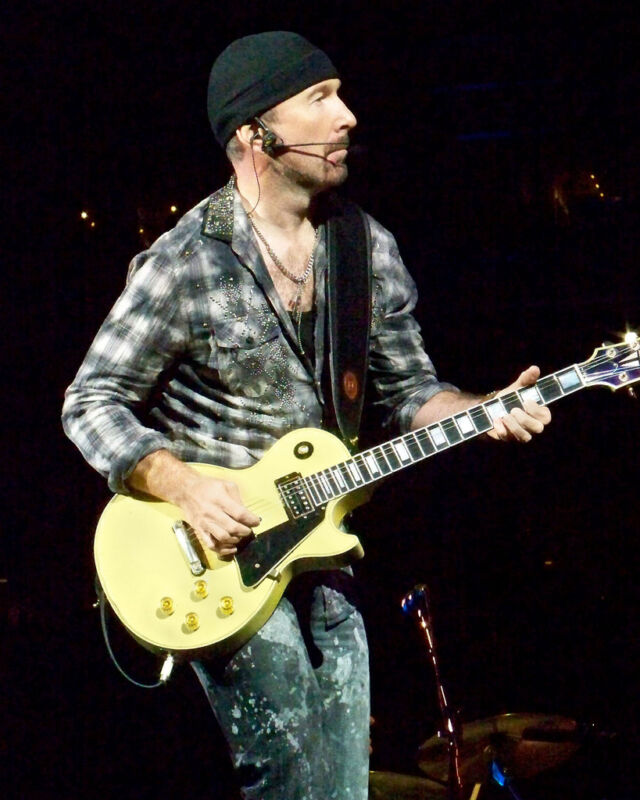 The Edge - U2, 8x10 Color Photo
