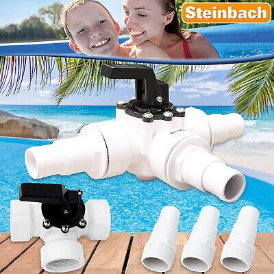3-Wegeventil Pool Schwimmbad Pumpe Schlauchanschluss Schlauchkupplung 60025