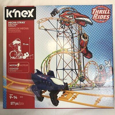 K Nex Mecha Strike Thrill Rides Roller Coaster Building Set Motor 577 Pieces