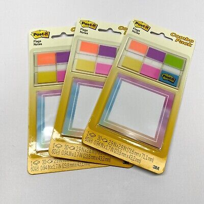 Post-it Flags Notes Combo Pack Lot Of 3 Pks