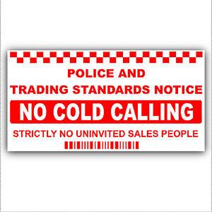No-Cold-Calling-Salesman-Callers-External-Window-Door-Sticker-Sign-Small-87x43mm