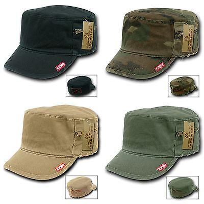 1 Dozen Flat Top Zipper BDU Fatigue Cadet Military Fitted Caps Hats Wholesale - Wholesale Top Hats
