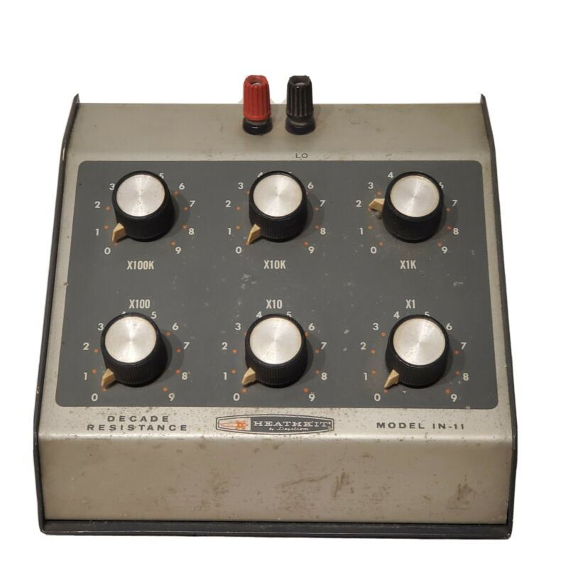 Vintage Heathkit IN-11 Decade Resistance Test Unit