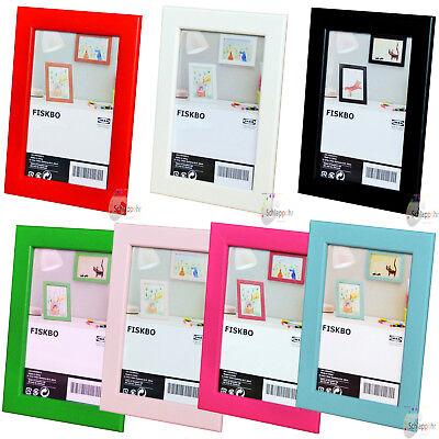 IKEA FISKBO Bilderrahmen /Fotorahmen/ 10x15 cm./13x18 cm./21x30 cm. (DIN A4) NEU - Bilderrahmen