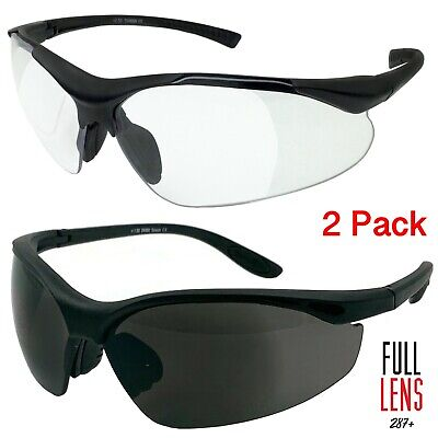2 Pack Lot Full Magnifying Lens Sunglasses Safety Reader Reading Glasses Z87