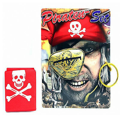 Piraten Set Piratenset Kinder Pirat Augenklappe Ohrring Tuch Mitgebsel Giveaway (Piraten Ohrring Set)