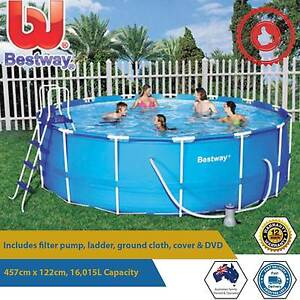 15ft Bestway Above Ground Steel Pro Frame Pool 457cm x 122cm Paddington Eastern Suburbs Preview