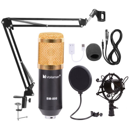 Condenser Microphone Kit Studio Audio Recording Arm Stand Sh