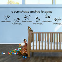 Contar Ovejas Y Go To Sleep Infantil Dormitorio Decoración Pared Vinilo Adhesivo -  - ebay.es