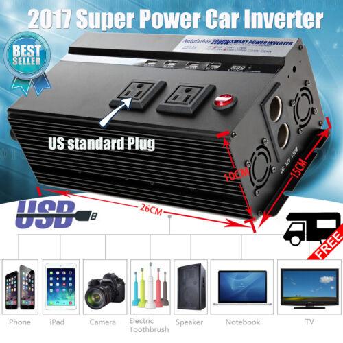 Autofather 2000/4000 Watt Power Inverter DC 12V AC 110V Car