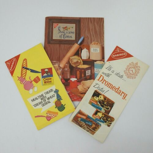 Vintage Nabisco Booklets Advertising Recipes Cream of Wheat Dromedary Cereal