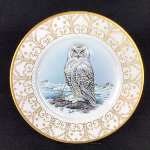 """EDWARD MARSHALL BOEHM 10.75"""" Owl Plate Collection SNOWY OWL Perfect Condition!"""