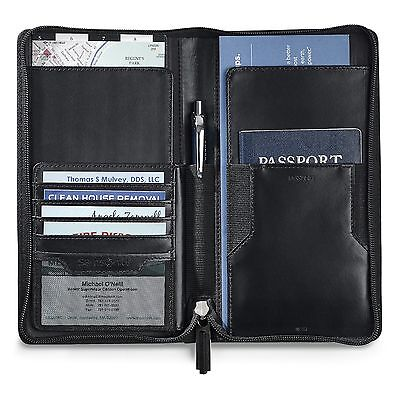 Samsonite Leather Travel Wallet with RFID Technology ID Theft Protection - New
