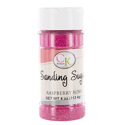 CK Sanding Sugar Raspberry Rose 4 Ounces   Sprinkles   Cake   Cupcakes   Cookies - Sugar Sprinkles Cake