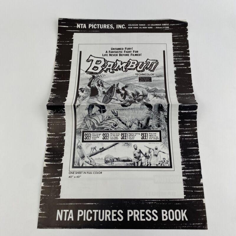 Vintage Movie Pressbook Advertising Page Bambuti 1956 Jungle Natives Documentary