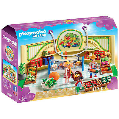 Playmobil City Life Grocery Store Building Set 9403 NEW Learning Toys - Kid City Stores