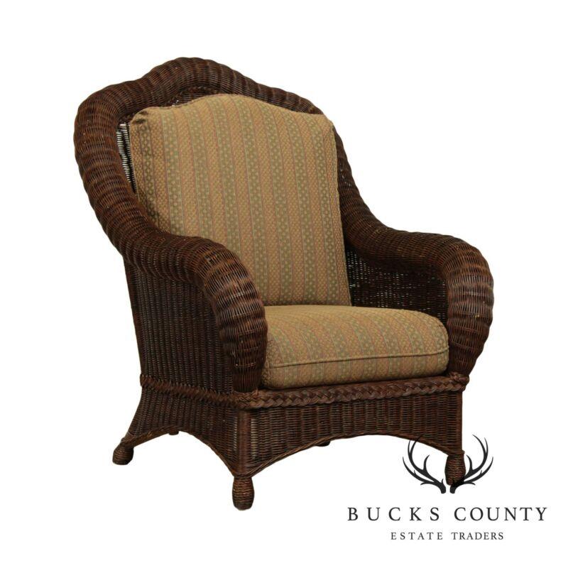 Ethan Allen Victorian Style Wicker Armchair