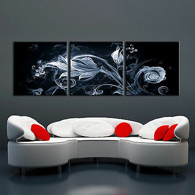 3 Piece Canvas Art - Abstract ready to hang 3piece modern mounted on MDF wall art/Improved canvas art