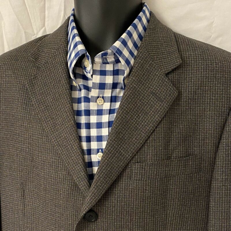 42 L Mens PRONTO UOMO Sport Coat Blazer Jacket * Gray/Brown/Blue