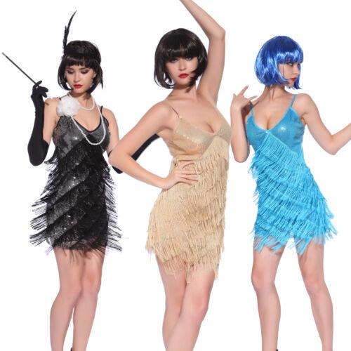 Vintage 1920s Flapper Girl Sequin Fringed Costume Cocktail Party Dance Dress  sc 1 st  eBay & Vintage 1920s Flapper Girl Sequin Fringed Costume Cocktail Party ...