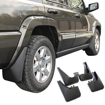 Jeep Commander Mud Flaps 2006-10 Guards Splash No Running Boards 4 Pc Front Rear ()