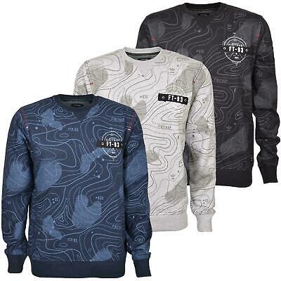 Mens Crew Neck Jumper Sweatshirt Firetrap Print Radison Sweater Pullover Top