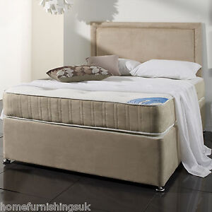 5ft or 6ft 13 5g open coil non turn memory foam balmorals for 6ft divan bed