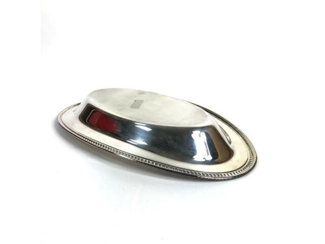 Vintage Silverplate Bread Tray Plate 12x7 Silver Plate