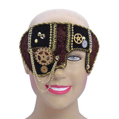 Half Face Halloween Male (Mens Male Steampunk Face Mask Masquerade Ball Party Halloween Fancy)